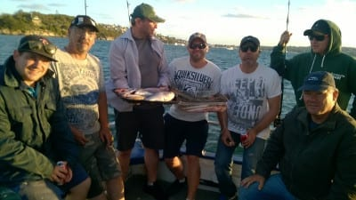 One boatload of happy fishermen