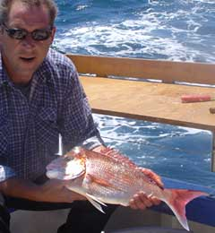 Clinton with snapper